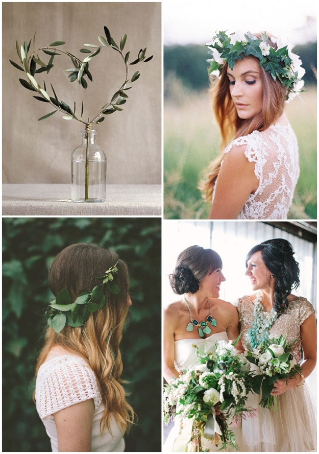 Clockwise from top L: Pinterest; Feather and Stone; Hayley Sheffield; Pinterest