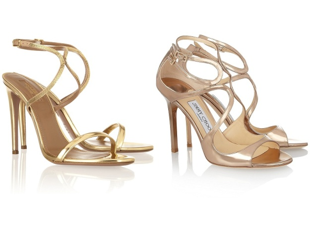 L: Aquazzura R: Jimmy Choo