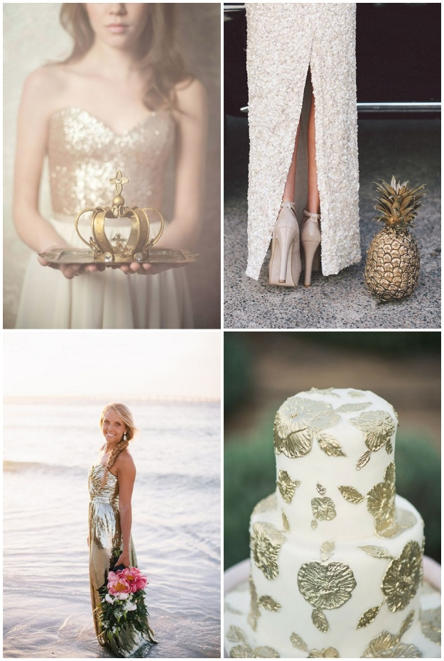 Clockwise top L: Blush wedding; Lara Hotz; Pinterest; Simply Sarah