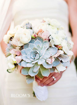 heavenly mix of blue hues and touches of blush created with love
