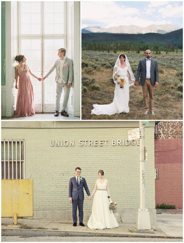 Clockwise from top: 2 Brides Photography; Brinton Photography; Lane Dittoe