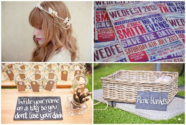 Clockwise from top L: Katie Neal; Wedfest; Shell De Mar Photography; Shell De Mar Photography